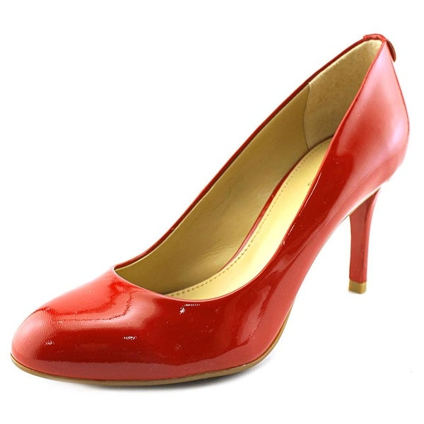 Michael Michael Kors Flex Kitten Pump Women Pointed Toe Patent Leather Red Heels