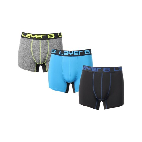 Layer 8 Mens Boxer Briefs Tagless Underwear