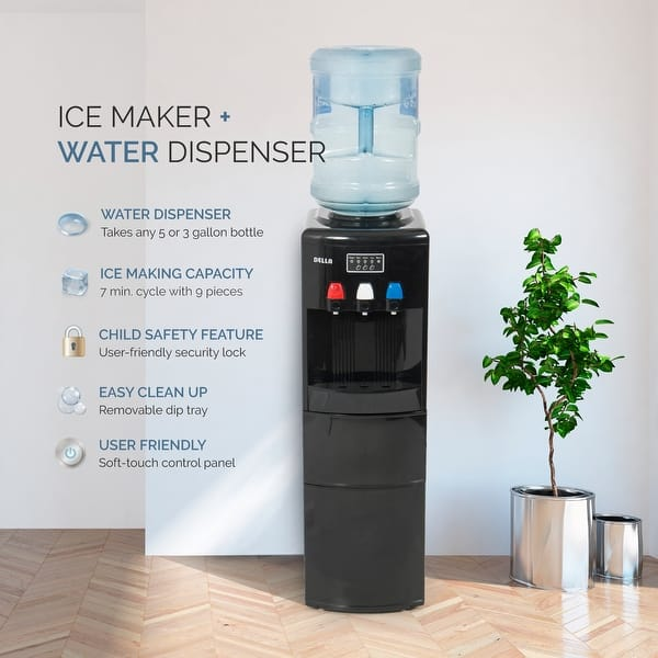 Shop DELLA Freestanding Water Dispenser Hot and Cold with ...