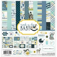 "Carta Bella Collection Kit 12""X12""-Rock-A-Bye Baby Boy"