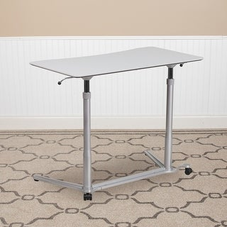 Link to Lancaster Home Adjustable Sit/ Stand Ergonomic Computer Desk Similar Items in Home Office Furniture