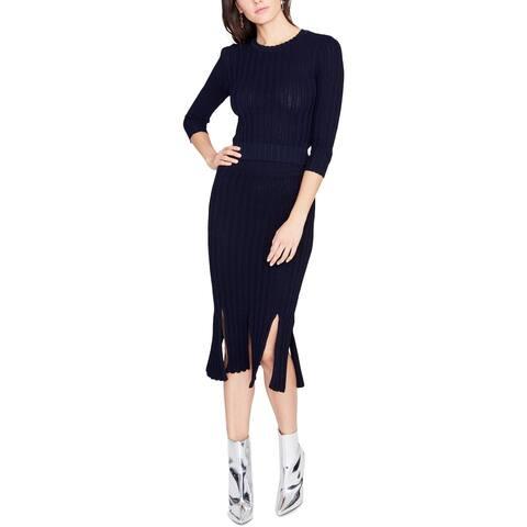 Rachel Rachel Roy Womens Pullover Sweater Cut-Out Crewneck