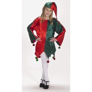 Link to 2 Piece Red and Green Satin Jingle Elf Christmas Dress – Child Size S/M Similar Items in Christmas Clothing