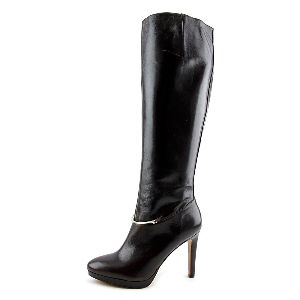 f090f9d08574 Shop Nine West Pearson Women Round Toe Leather Brown Knee High Boot - Free  Shipping Today - Overstock - 14346793