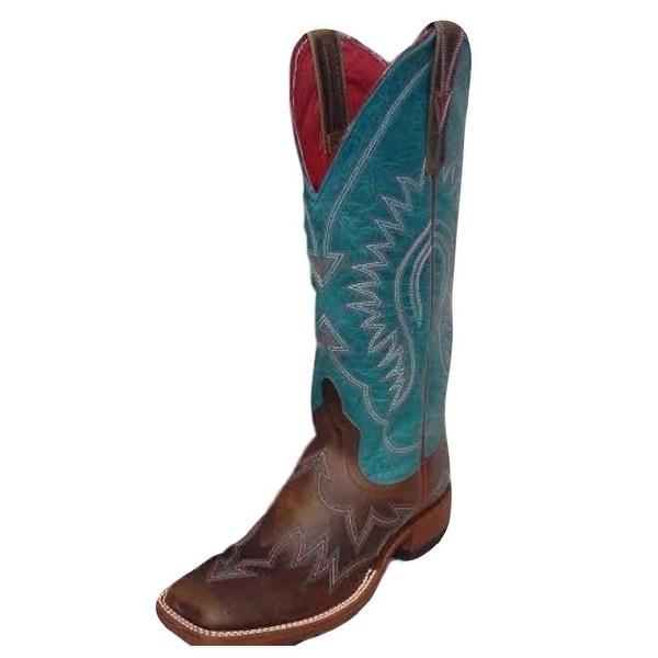 Macie Bean Western Boots Womens Arrowhead Amy Tan Turquoise