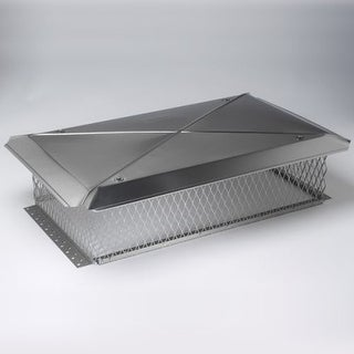 """Gelco 13246 17"""" x 49"""" Stainless Steel Multi-Flue Chimney Top with 8"""" High 3/4"""" M"""