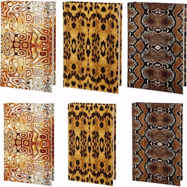 Animal Print Book Boxes-set of 6, Multicolor