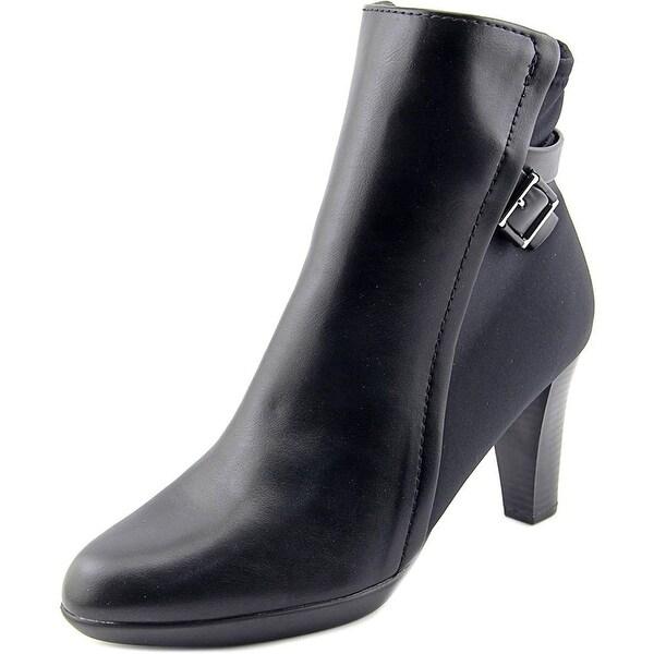 Alfani Velvett Women Round Toe Synthetic Black Ankle Boot