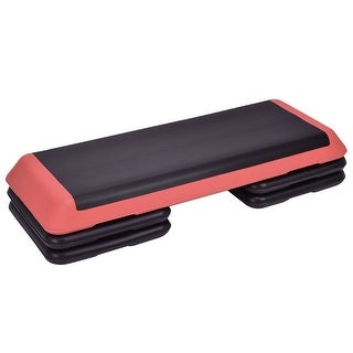 "Link to Fitness Aerobic Step 43"" Cardio Adjust 4"" - 6"" - 8"" Exercise Stepper - Red Similar Items in Fitness & Exercise Equipment"
