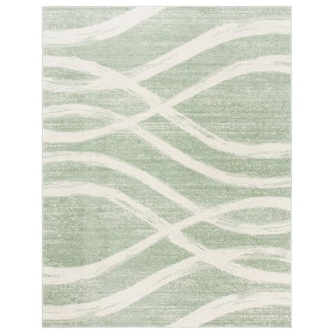 SAFAVIEH Adirondack Lelia Modern Abstract Distressed Rug
