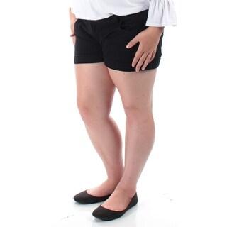 CELEBRITY PINK $19 Womens New 1147 Black Cuffed Cropped Short 15 Juniors B+B