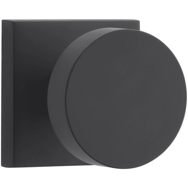 Baldwin PS.CON.CSR Modern Passage Door Knob Set with Modern Square Trim from the Reserve Collection - N/A