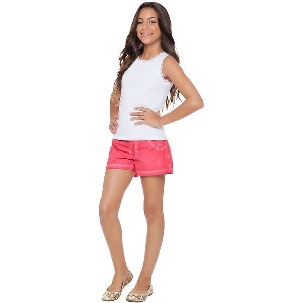 aef1e0b3000 Shop Tween Girl Shorts Kids Bottoms Summer Clothing Pulla Bulla 10-16 Years  - Free Shipping On Orders Over $45 - Overstock - 12914561