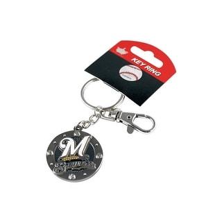 Milwaukee Brewers MLB Impact Metal Key Ring Keychain