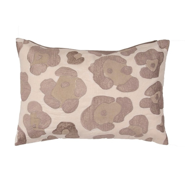 "20"" Cinnamon Brown Tan and Beige Leopard Animal Print Decorative Throw Pillow"