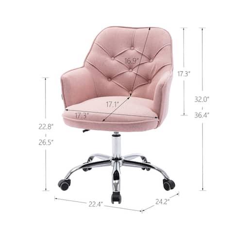Linen Swivel Shell Chair for Living Room