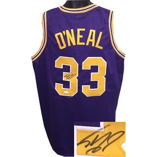 Signed Shaquille ONeal signed Purple TB Custom Stitched College Basketball Jersey XL JSA Hologram T