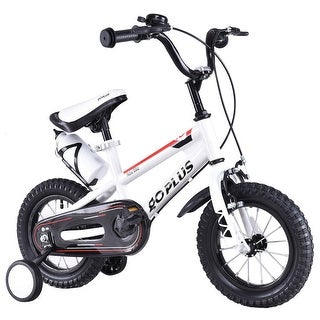 Goplus 16'' Freestyle Kids Bike Bicycle Children Boys & Girls w Training Wheels White