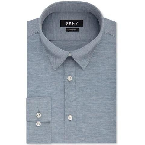 Dkny Mens Active Stretch Button Up Dress Shirt