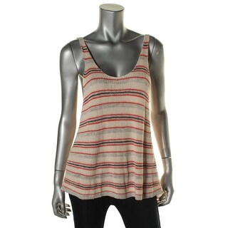 Free People Womens Striped Sleeveless Tank Top Sweater