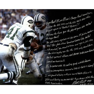 Matt Snell 69 Jets 16x20 Story Photo