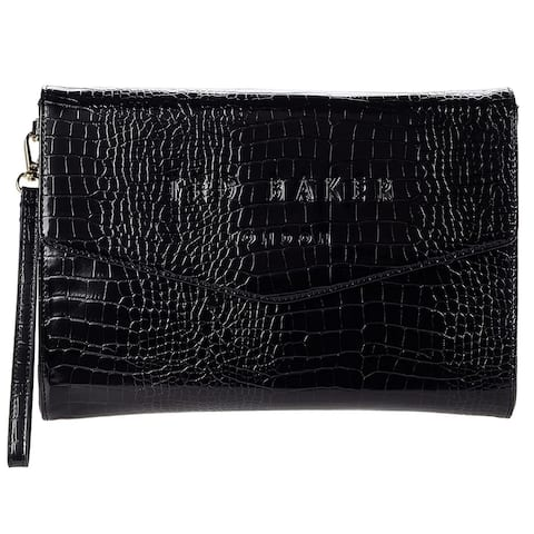 Ted Baker Crocey Clutch Black One Size