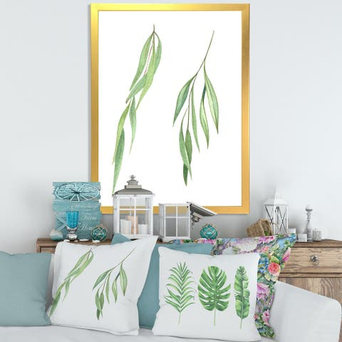 Designart 'Two Willow Branches' Farmhouse Framed Art Print