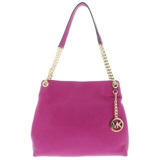 Michael Kors Womens Jet Set Shoulder Handbag Leather Pebbled - Medium