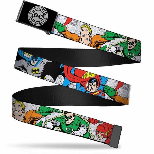 Dc Originals Reverse Brushed Silver Cam Justice League Superheroes Web Belt