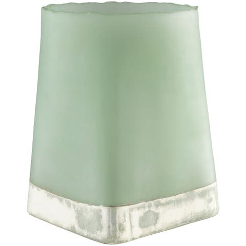 Loegairh Green Glass Traditional Decorative Vase