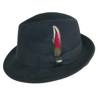 9138d46db72 Scala Classico Men s Water Repellent Snap Brim Fedora Hat