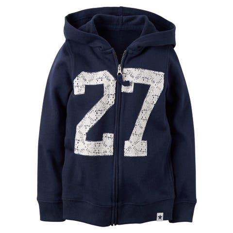 Carter's Baby Girls' Navy French Terry Hoodie - 3 Months