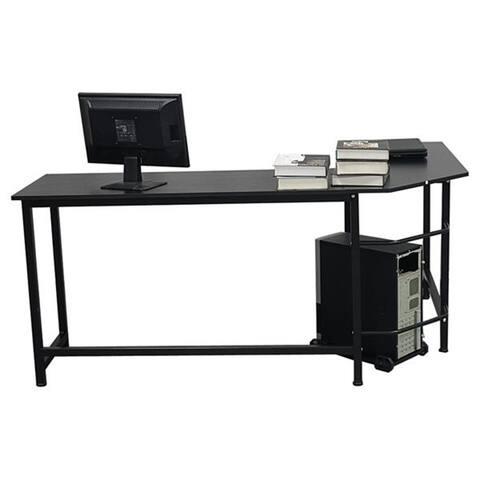 L-Shaped Desktop Computer Desk Black