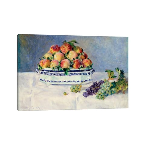 """iCanvas """"Still Life With Peaches And Grapes"""" by Pierre-Auguste Renoir Canvas Print"""
