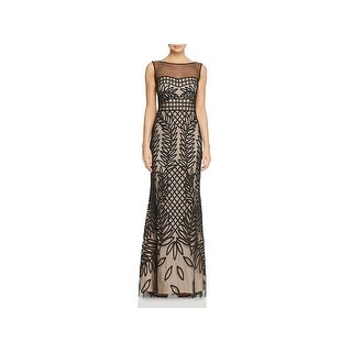 JS Collections Womens Formal Dress Mesh Embroidered - 4