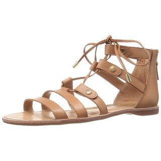 Franco Sarto Womens L-Baxter Leather Open Toe Casual Gladiator Sandals