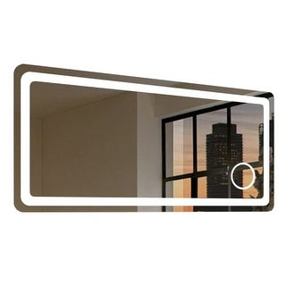 "Miseno MM6028LEDM 60"" W x 28"" H Rectangular Frameless Wall Mounted Mirror with LED Lighting"