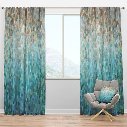 Designart 'Blocked Abstract' Nautical & Coastal Blackout Curtain Panel