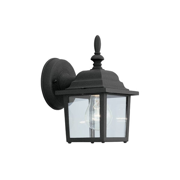 """Designers Fountain 2861-BK 1-Light 5.25"""" Cast Aluminum Wall Lantern from the Quintessence Collection - Black - N/A"""