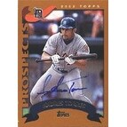 Andres Torres Erie Seawolves Tigers Affiliate 2002 Topps Prospects Autographed Card Minor League