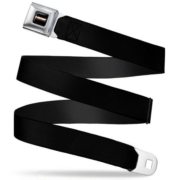 Hemi Powered Logo Full Color Black Orange White Gray Black Webbing Seatbelt Seatbelt Belt