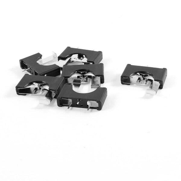Unique Bargains 6 Pieces Black Plastic CR2025 Cell Button Lithium Battery Sockets Holder