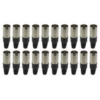 XLR Connector Male, 20 Pack
