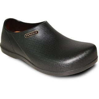 VANGELO Men Slip Resistant Clog CARLISLE Black (Option: 5)