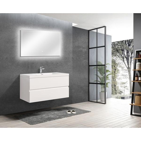 ALma-Angela 42″ Wall Mount Vanity With Sink. Opens flyout.