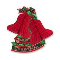 """Club Pack of 12 Red and Green Honeycomb Bell With Holly Christmas Hanging Decorations 14.5"""""""