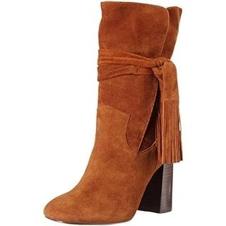 Shellys London Womens London Mid-Calf Boots Suede Fringe - 6 medium (b,m)