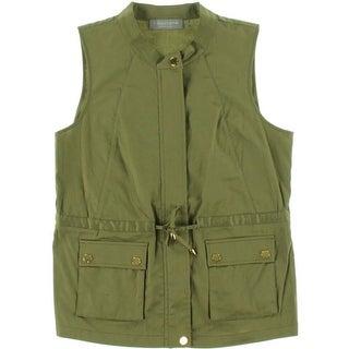 Bagatelle Womens Twill Blouson Casual Vest - L