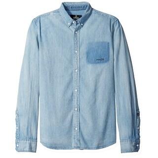 Buffalo David Bitton NEW Blue Mens Size XL Button Down Denim Shirt