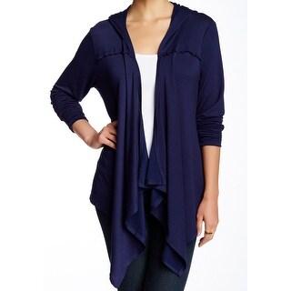 Bobeau NEW Blue Navy Women's Size Small S Draped Cardigan Sweater
